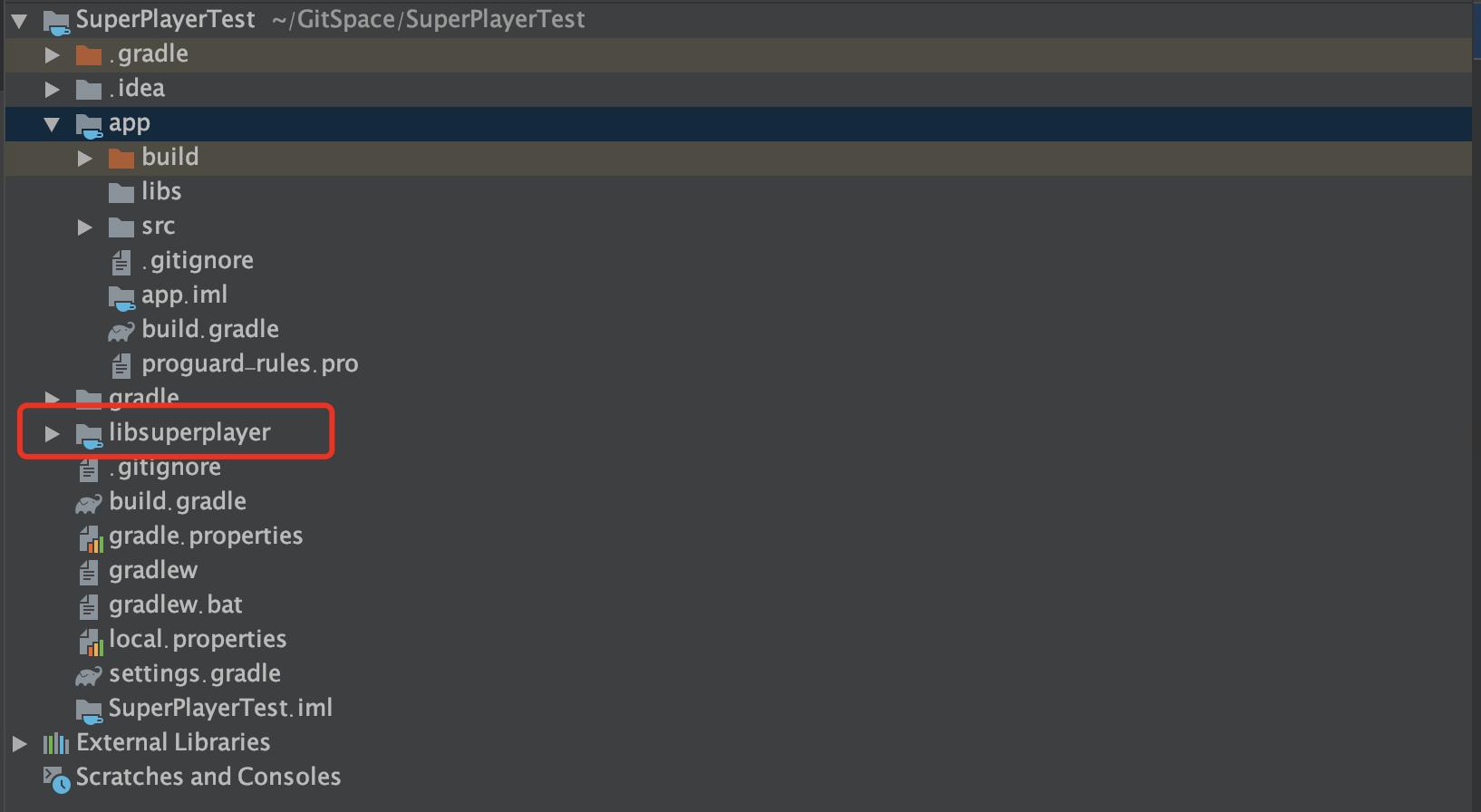 Android 导入lib后工程结构示意图