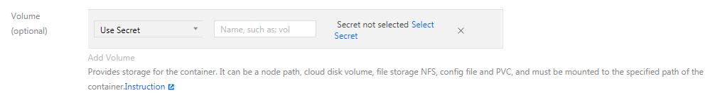 Use a Secret