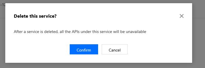 Delete Services