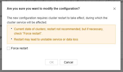 Force modify configuration