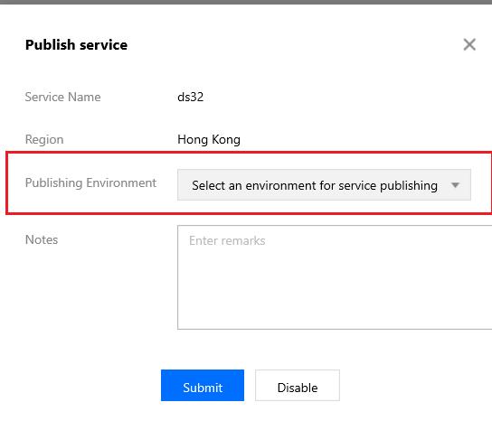 Service publishing